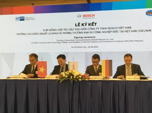 Tập đoàn Bosch nâng vốn đầu tư dạy nghề miễn phí tại Việt Nam lên hơn 1 triệu USD. Ảnh: Mỹ Phương/TTXVN