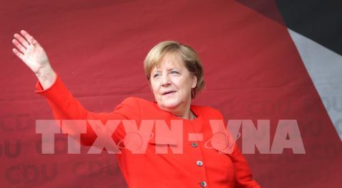 Thủ tướng Đức Angela Merkel tại cuộc vận động tranh cử ở Heidelberg ngày 5/9. Ảnh: AFP/TTXVN