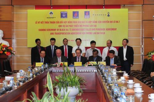 PVN và các đối tác ký 2 văn bản liên quan đến dự án phát triển mỏ Phong Lan Dại