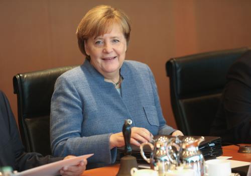 Đa số người được hỏi (52%) bày tỏ ủng hộ liên đảng bảo thủ CDU/CSU của Thủ tướng Đức Angela Merkel. Ảnh: AFP