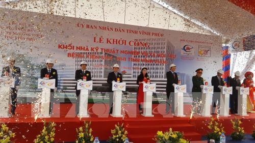Khởi công xây dựng nhà kỹ thuật nghiệp vụ và nội trú của Bệnh viện Sản – Nhi Vĩnh Phúc