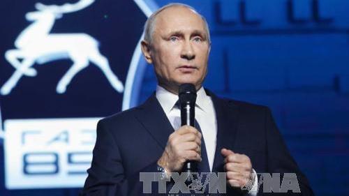 Tổng thống Nga Putin họp báo lớn thường niên năm 2017