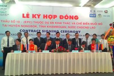 Vinachem tham gia dự án khai thác chế biến muối mỏ tại Lào