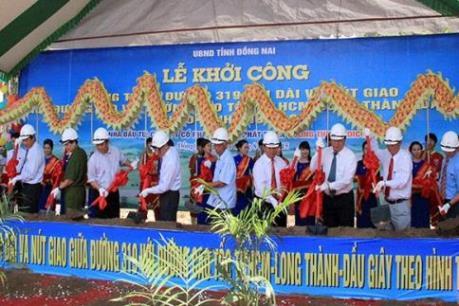 Khởi công đường 319 kết nối với cao tốc TPHCM-Long Thành-Dầu Giây