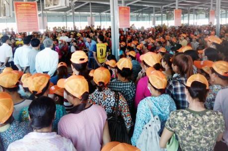 Thanh Hóa: Gần 1.000 công nhân Công ty giày da Hồng Mỹ 2 trở lại làm việc