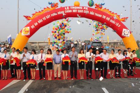 Chính thức thông xe nút giao cầu Thanh Trì với Quốc lộ 5