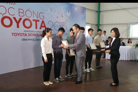 Toyota trao 115 suất học bổng cho sinh viên chuyên ngành kỹ thuật