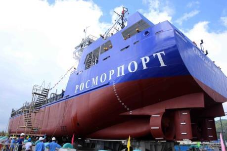 Đà Nẵng hạ thủy tàu công trình TSHD 2000