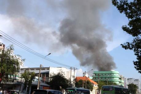 Hỏa hoạn tại khu dân cư ở Thành phố Hồ Chí Minh