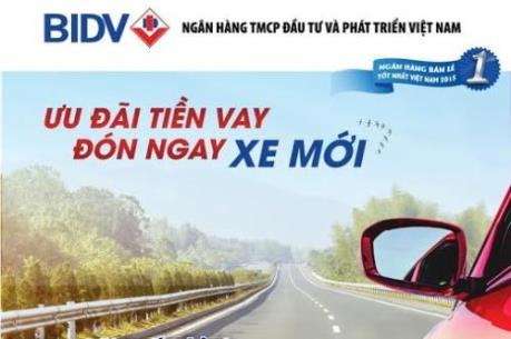 BIDV cho vay mua ô tô với lãi suất hấp dẫn