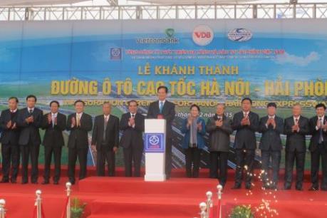 Chính thức thông toàn tuyến cao tốc Hà Nội - Hải Phòng