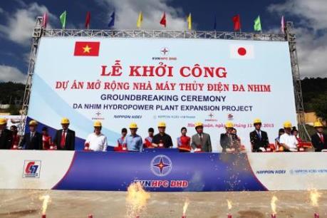 Phó Thủ tướng Hoàng Trung Hải phát lệnh khởi công dự án mở rộng Nhà máy thủy điện Đa Nhim