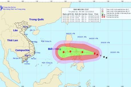 Cảnh báo: Xuất hiện cơn bão rất mạnh hoạt động gần Biển Đông