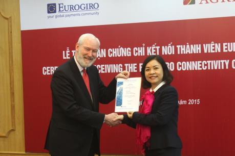 Agribank là ngân hàng Việt Nam đầu tiên tham gia mạng lưới thanh toán toàn cầu Eurogiro
