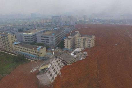 Lở đất tại Trung Quốc, hơn 10 tòa nhà đổ sập, 41 người mất tích