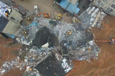 Tin mới nhất về vụ lở đất ở Trung Quốc: 400m đường ống khí đốt đã phát nổ