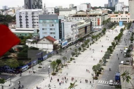 Xây dựng  Vườn Sài Gòn trên phố đi bộ Nguyễn Huệ