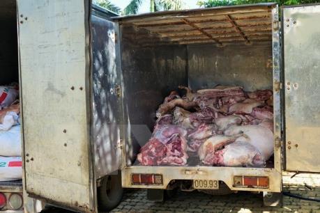 Đắk Lắk: Phát hiện xe khách vận chuyển hơn 1 tấn thịt bẩn