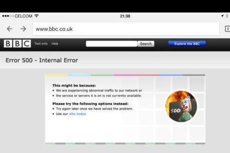 """Trang BBC bất ngờ bị đánh """"sập"""" trong ngày cuối năm"""
