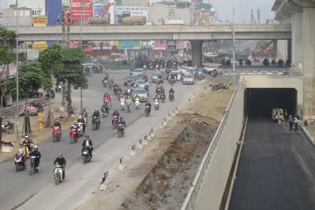Ngày 10/1, thông xe dự án hầm chui nút giao Thanh Xuân và Trung Hòa