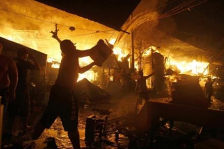 Philippines: Cháy lớn phá hủy gần 1.000 ngôi nhà tại Manila