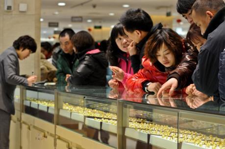 Giá vàng châu Á tăng phiên thứ ba liên tiếp