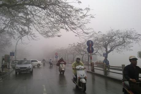 Dự báo thời tiết ngày 9/1: Khu vực Hà Nội đêm có mưa nhỏ rải rác