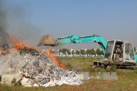 Tây Ninh thu giữ gần 1 triệu bao thuốc lá điếu nhập lậu