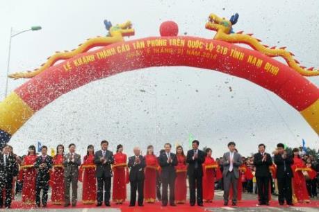 Khánh thành cầu Tân Phong trên Quốc lộ 21B tỉnh Nam Định