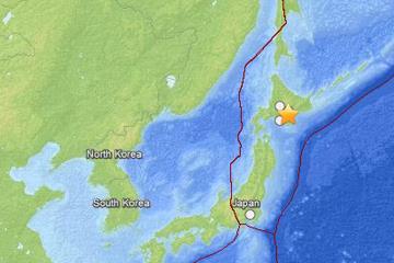 Động đất mạnh 6,7 độ Richter ở ngoài khơi Nhật Bản