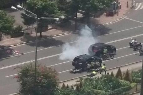 Indonesia: Đánh bom liên tiếp ở Jakarta, ít nhất 3 người thiệt mạng
