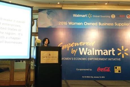 Walmart (Mỹ) muốn chọn doanh nghiệp nữ Việt Nam tham gia chuỗi cung ứng hàng hóa