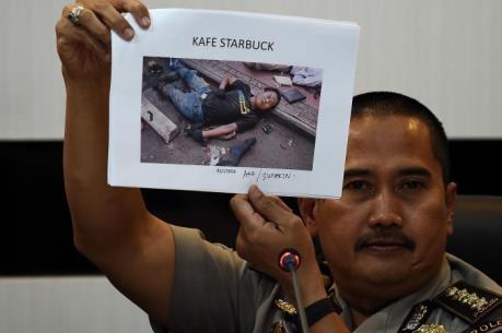 Vụ đánh bom ở Jakarta: Cảnh sát công bố danh tính các nghi phạm