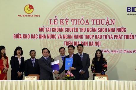 BIDV mở tài khoản thu ngân sách nhà nước tại Hà Nội