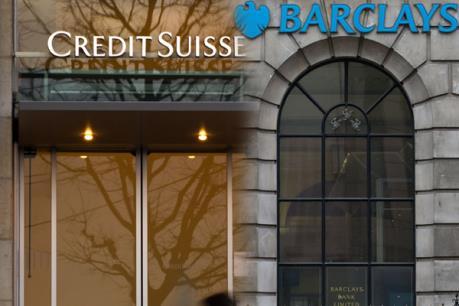 Ngân hàng Barclays và Credit Suisse bị phạt tiền vì các giao dịch chứng khoán ngầm