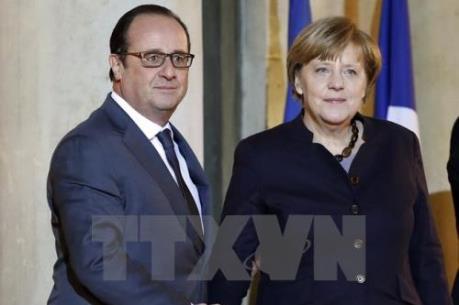 """Thủ tướng Đức và Tổng thổng Pháp bàn về khủng hoảng di cư và """"Brexit"""""""