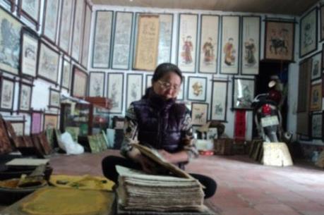 Nữ nghệ nhân đầu tiên của làng tranh Đông Hồ