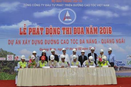 Thông xe đường cao tốc Đà Nẵng- Quảng Ngãi vào cuối năm 2016