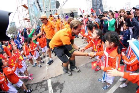 Đà Nẵng: Đoàn đua thuyền buồm thế giới xuất phát chặng đua thứ 8