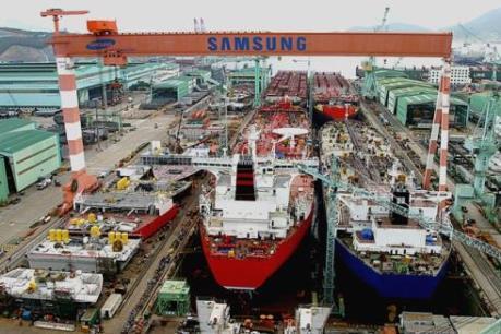 Ngành đóng tàu Hàn Quốc gặp khó khăn