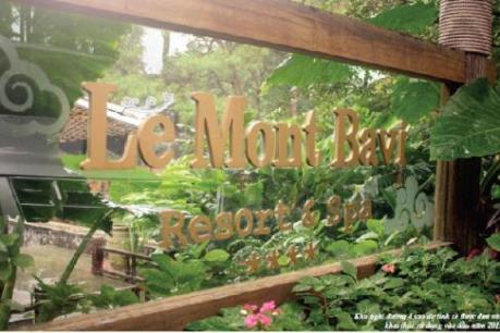 Đình chỉ việc xây dựng resort không phép trong Vườn Quốc gia Ba Vì