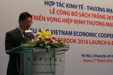 Hướng mục tiêu FTA Việt Nam-EU được áp dụng vào năm 2018