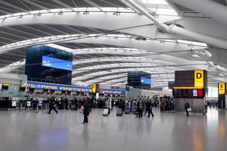Sân bay Heathrow của Anh được đánh giá tốt nhất châu Âu