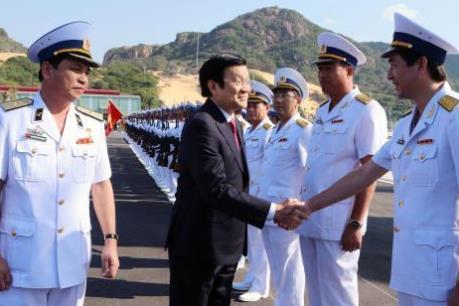 Chủ tịch nước Trương Tấn Sang dự lễ khánh thành Cảng Quốc tế Cam Ranh