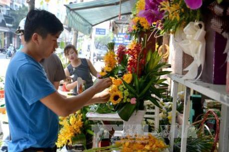 Đà Nẵng: Giá hoa tươi tăng từ 20 - 30% trong ngày 8/3