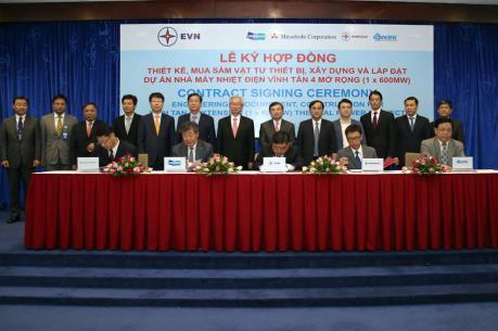 Ký hợp đồng xây dựng dự án Nhà máy Nhiệt điện Vĩnh Tân 4 mở rộng