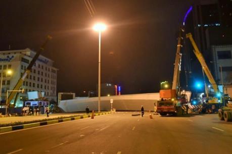Thông tin mới về sự cố rơi dầm cầu trên đường Trần Duy Hưng