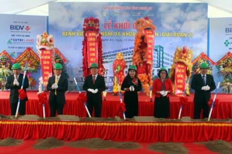 Đầu tư 1.300 tỷ đồng xây dựng bệnh viện hiện đại nhất tỉnh Nghệ An