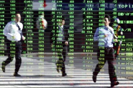 Sắc xanh bao phủ thị trường chứng khoán châu Á