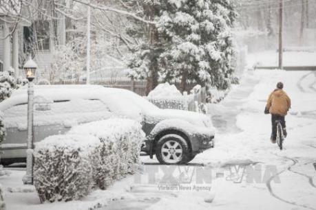 Bão tuyết tiếp tục quét qua vùng Trung Tây nước Mỹ